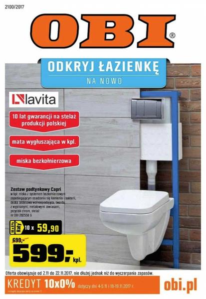 Obi Odkryj łazienkę Na Nowo Od 211 Listopada